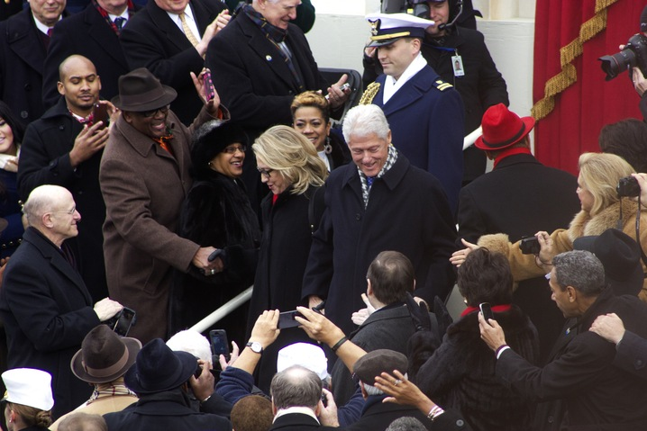 The Clintons Arrive