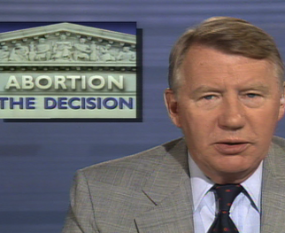 <strong>FROM THE PBS NEWSHOUR ARCHIVES: Roe v. Wade's Influence Felt on 1992 Abortion Case</strong>