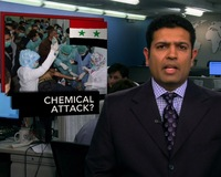 News Wrap: Syrian Government Accuses Rebels of Chemical Attack in the North