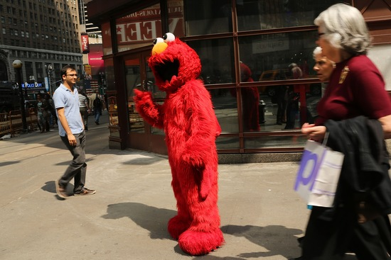 Elmo; photo by Spencer Platt/Getty Images