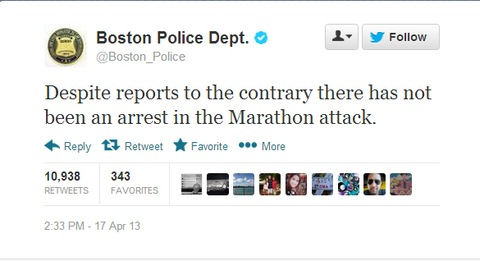 Conflicting Reports on Alleged Boston Suspect Flood Social Media