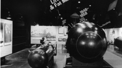 Replicas of Fat Man and Little Boy, the two nuclear bombs dropped on Japan. Credit: Los Alamos Labratory