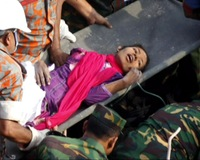 Bangladeshi Seamstress Rescued From Factory Rubble After 17 Days