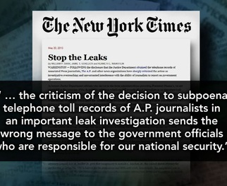 WATCH: How Far Should Government Go in Investigation of Leaks?