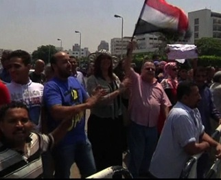WATCH: Egyptians Praise and Protest Installation of Interim President Mansour