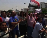 Egyptians Praise and Protest Installation of Interim President Mansour