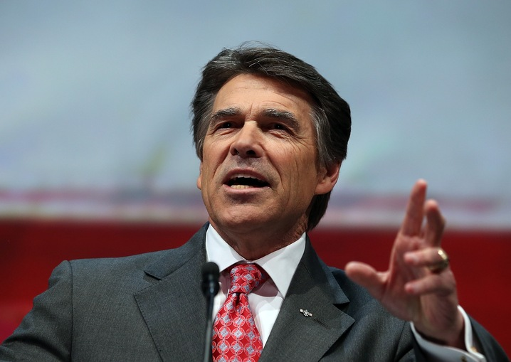 Texas Gov. Rick Perry speaks during the 2013 NRA Annual Meeting and Exhibits at the George R. Brown Convention Center on May 3, 2013 in Houston, Texas. Photo by Justin Sullivan/Getty Images