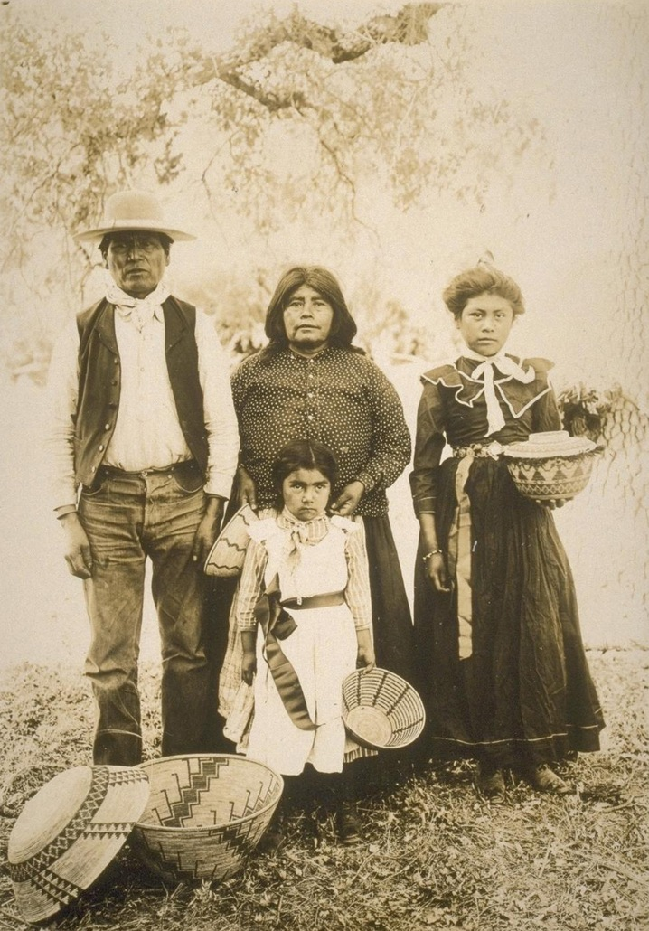 Family with Baskets