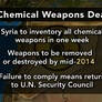 Chemical Weapons Declaration May Offer 'First, Key Tipoff' of Assad's Intentions