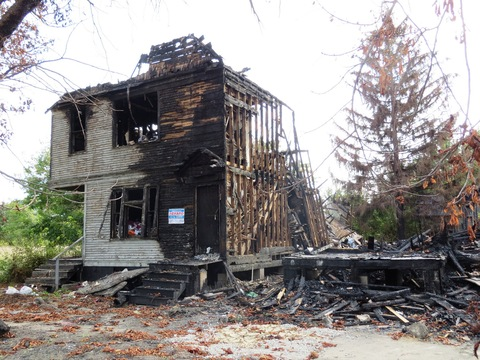 Detroit houses destroyed by arson (Photo by Sean Marshall/Flickr)