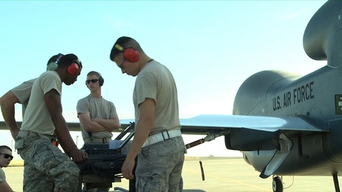 U.S. Air Force drone crew