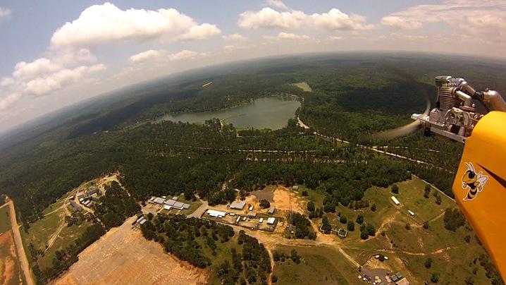 drone horizon shot