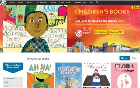 NYPL children's book list 2013
