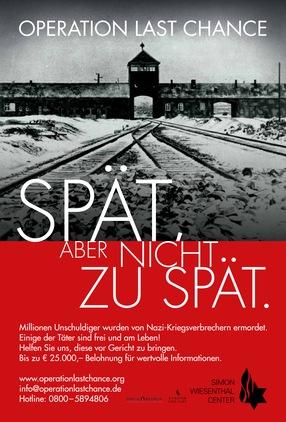 Wiesenthal Center Poster