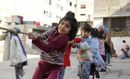 In troubled countries, 'child-friendly spaces' offer some relief