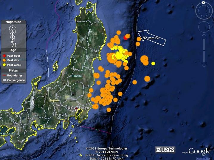 Aftershock Earthquake Diagram 8.9-Magnitude E...